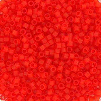 Extra foto's miyuki delica's 11/0 - transparant matte red orange