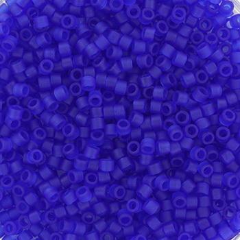 Extra foto's miyuki delica's 11/0 - transparant matte cobalt