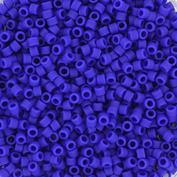 Extra foto's miyuki delica's 11/0 - opaque matte cobalt