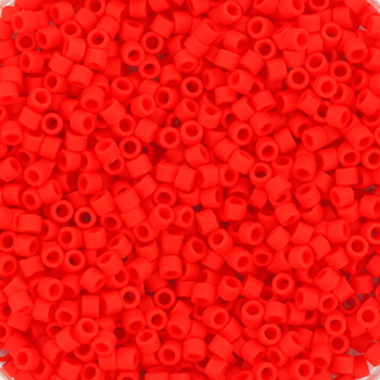 Extra foto's miyuki delica's 11/0 - opaque matte vermillion red