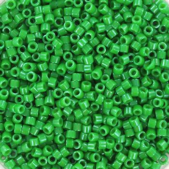 Extra foto's miyuki delica's 11/0 - opaque dyed kelly green