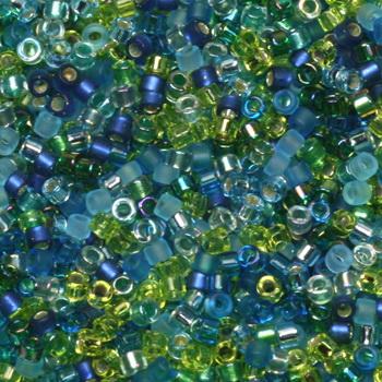 Extra foto's miyuki delica's 11/0 - electric blue lagoon