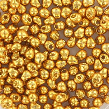 Extra foto's miyuki drop 2.8 mm - duracoat galvanized gold