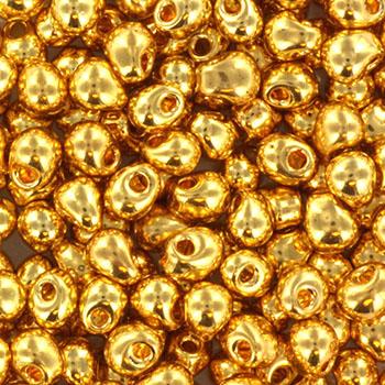 Extra foto's miyuki drop 3.4 mm - 24kt gold plated