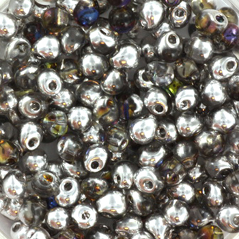 Extra foto's miyuki drop 3.4 mm - Czech coating crystal heliotrope
