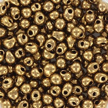 Extra foto's miyuki drop 3.4 mm - metallic dark bronze