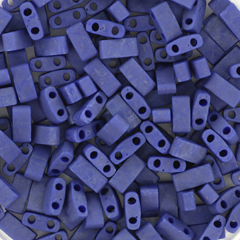 Extra foto's miyuki half tila 5x2.3 mm - opaque matte cobalt luster