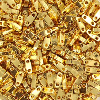 Extra foto's miyuki quarter tila 5x1.2 mm - 24kt gold plated
