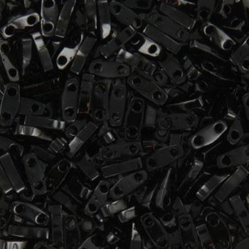 Extra foto's miyuki quarter tila 5x1.2 mm - opaque black