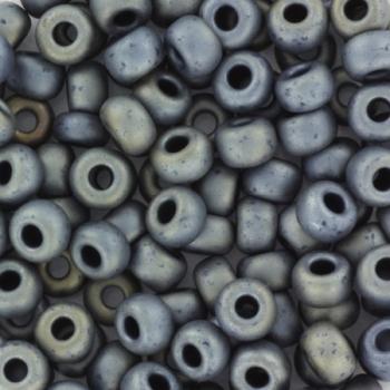 Extra pictures miyuki seed beads 6/0 - metallic matte silver gray
