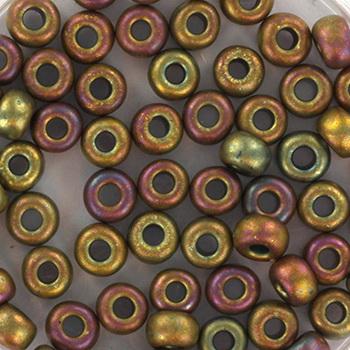 Extra foto's miyuki rocailles 6/0 - metallic matte iris khaki