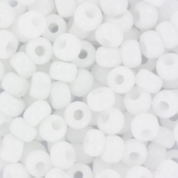 Extra foto's miyuki rocailles 6/0 - opaque white