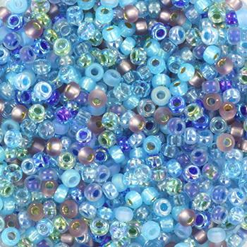 Extra foto's miyuki rocailles 11/0 - mix aqua shimmer