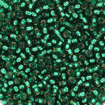 Extra pictures miyuki seed beads 11/0 - silverlined emerald