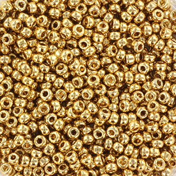 Extra pictures miyuki seed beads 11/0 - 24kt gold light plated