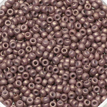Extra pictures miyuki seed beads 11/0 - opaque matte dusty mauve