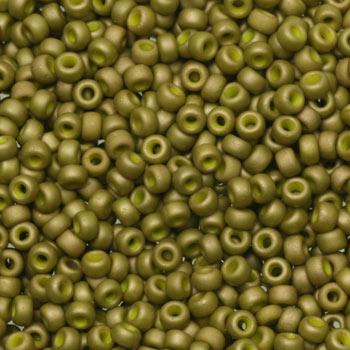 Extra foto's miyuki rocailles 11/0 - opaque matte luster golden olive