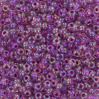 Extra pictures miyuki seed beads 11/0 - raspberry lined ab crystal