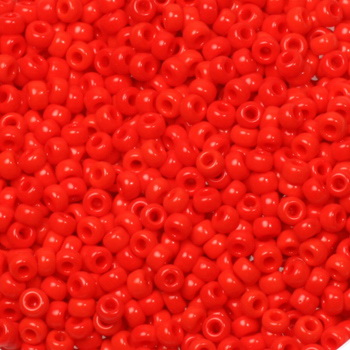 Extra foto's miyuki rocailles 11/0 - opaque vermilion red