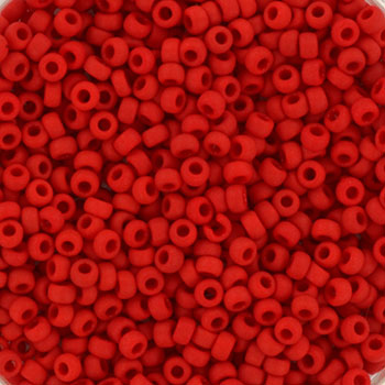 Extra foto's miyuki rocailles 11/0 - opaque matte red