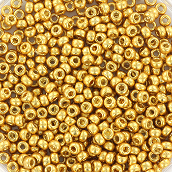 Extra pictures miyuki seed beads 11/0 - duracoat galvanized gold