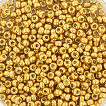 Extra foto's miyuki rocailles 11/0 - duracoat galvanized gold