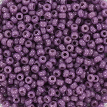 Extra pictures miyuki seed beads 11/0 - duracoat opaque dark orchid