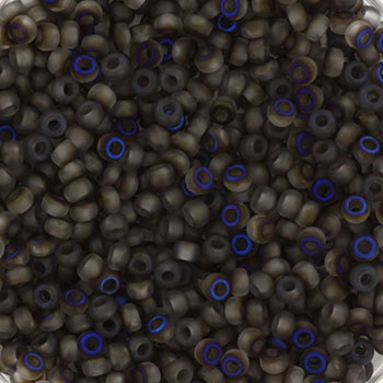 Extra pictures miyuki seed beads 11/0 - Czech coating matte azuro