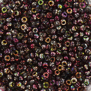 Extra pictures miyuki seed beads 11/0 - Czech coating magic wine