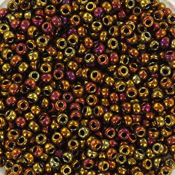 Extra foto's miyuki rocailles 11/0 - metallic gold iris