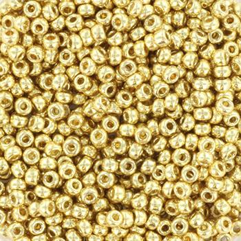 Extra foto's miyuki rocailles 11/0 - duracoat galvanized pale gold