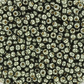 Extra foto's miyuki rocailles 11/0 - duracoat galvanized steel green