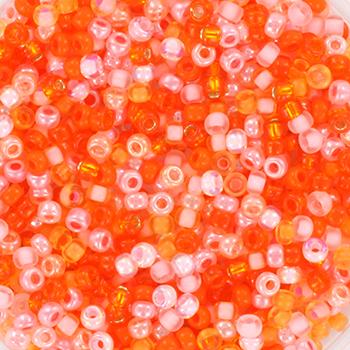 Extra foto's miyuki rocailles 11/0 - mix pink grapefruit