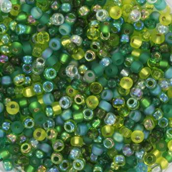 Extra foto's miyuki rocailles 11/0 - mix ever green