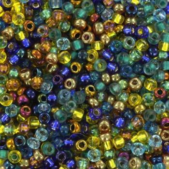 Extra foto's miyuki rocailles 11/0 - mix galatic blue gold