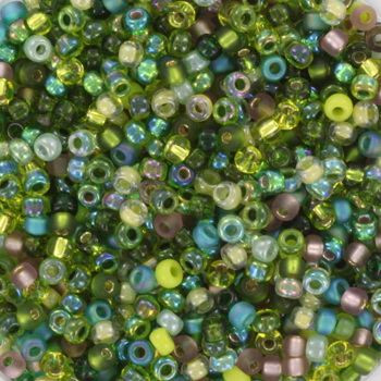 Extra pictures miyuki seed beads 11/0 - mix mossy glen
