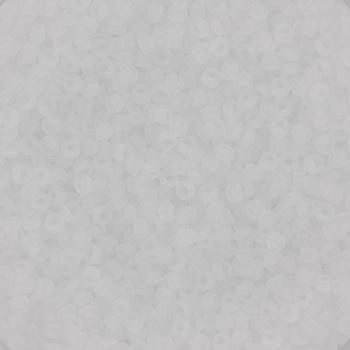 Extra foto's miyuki rocailles 15/0 - transparant matte crystal