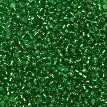 Extra foto's miyuki rocailles 15/0 - silverlined green