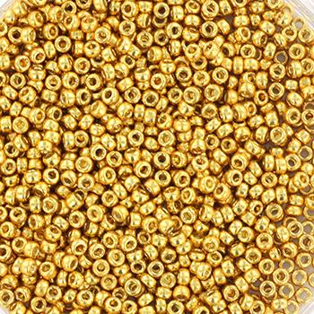 Extra foto's miyuki rocailles 15/0 - duracoat galvanized gold