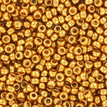 Extra pictures miyuki seed beads 15/0 - duracoat galvanized yellow gold
