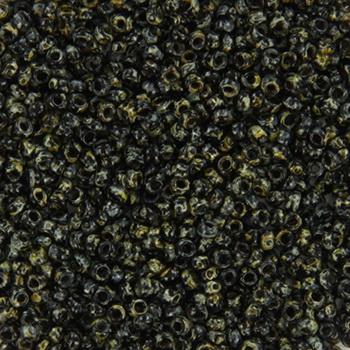 Extra foto's miyuki rocailles 15/0 - opaque picasso black