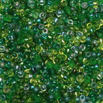 Extra foto's miyuki rocailles 15/0 - mix ever green