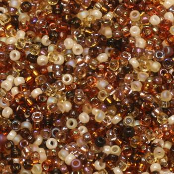 Extra foto's miyuki rocailles 15/0 - mix golden grains