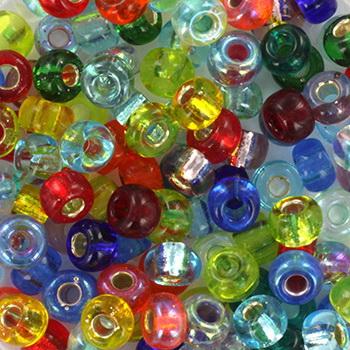 Extra foto's miyuki rocailles 6/0 - mix rainbow