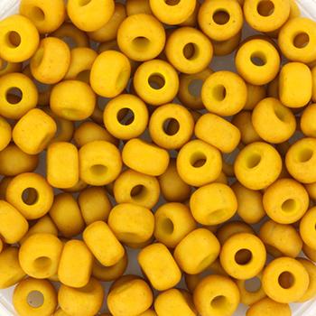 Extra pictures miyuki seed beads 6/0 - opaque matte mustard