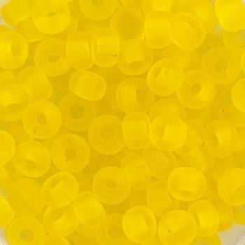Extra foto's miyuki rocailles 6/0 - transparant matte yellow