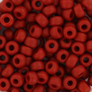 Extra foto's miyuki rocailles 6/0 - metallic matte brick red