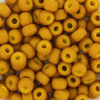 Extra foto's miyuki rocailles 6/0 - opaque matte mustard