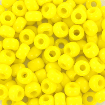 Extra foto's miyuki rocailles 6/0 - opaque yellow