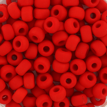Extra foto's miyuki rocailles 6/0 - opaque matte red